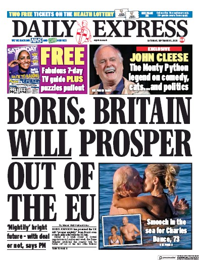 Daily Express Newspaper Front Page (UK) for 5 September 2020