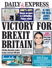 Daily Express (UK) Newspaper Front Page for 6 October 2018