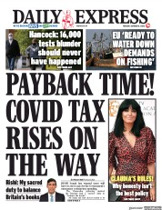 Daily Express front page for 6 October 2020