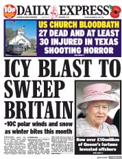 Daily Express (UK) Newspaper Front Page for 6 November 2017