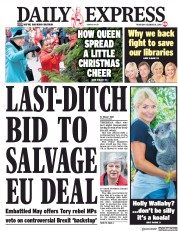 Daily Express (UK) Newspaper Front Page for 6 December 2018