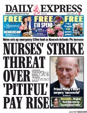 Daily Express front page for 6 March 2021