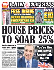 Daily Express (UK) Newspaper Front Page for 6 April 2017