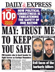 Daily Express (UK) Newspaper Front Page for 6 June 2017