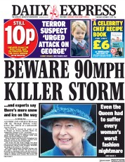 Daily Express (UK) Newspaper Front Page for 7 December 2017