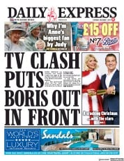 Daily Express () Newspaper Front Page for 7 December 2019