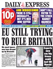 Daily Express (UK) Newspaper Front Page for 7 February 2018