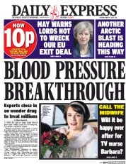 Daily Express (UK) Newspaper Front Page for 7 March 2017