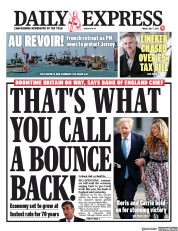Daily Express front page for 7 May 2021