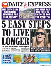 Daily Express () Newspaper Front Page for 7 July 2015