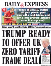 Daily Express (UK) Newspaper Front Page for 7 July 2018