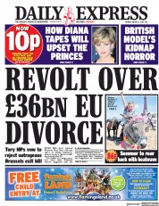 Daily Express (UK) Newspaper Front Page for 7 August 2017