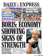 Daily Express front page for 7 August 2020