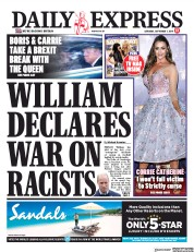 Daily Express (UK) Newspaper Front Page for 7 September 2019