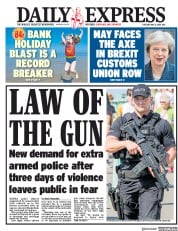 Daily Express (UK) Newspaper Front Page for 8 May 2018
