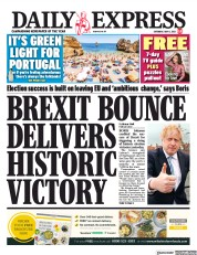 Daily Express front page for 8 May 2021