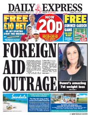 Daily Express (UK) Newspaper Front Page for 8 July 2017
