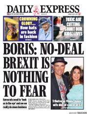 Daily Express (UK) Newspaper Front Page for 8 July 2019