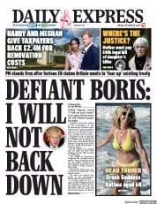 Daily Express front page for 8 September 2020