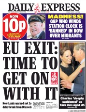 Daily Express (UK) Newspaper Front Page for 9 February 2017