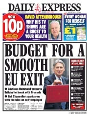 Daily Express (UK) Newspaper Front Page for 9 March 2017