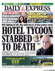 Daily Express front page for 9 April 2021