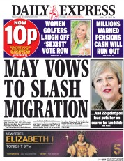 Daily Express (UK) Newspaper Front Page for 9 May 2017