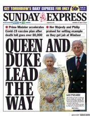 Daily Express Sunday front page for 10 January 2021