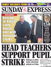 Daily Express Sunday (UK) Newspaper Front Page for 10 February 2019
