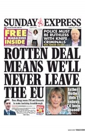 Daily Express Sunday (UK) Newspaper Front Page for 10 March 2019