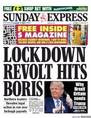 Daily Express Sunday front page for 11 October 2020