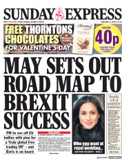 Daily Express Sunday (UK) Newspaper Front Page for 11 February 2018