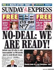 Daily Express Sunday front page for 13 December 2020