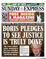 Daily Express Sunday front page for 13 September 2020