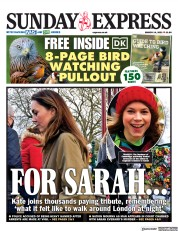 Daily Express Sunday front page for 14 March 2021