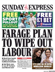 Daily Express Sunday (UK) Newspaper Front Page for 14 July 2019