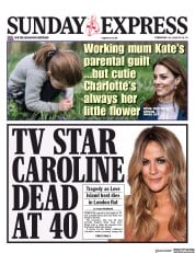 Daily Express Sunday (UK) Newspaper Front Page for 16 February 2020