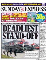 Daily Express Sunday (UK) Newspaper Front Page for 16 April 2017