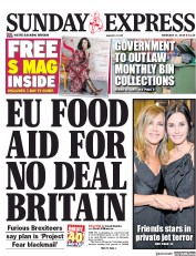 Daily Express Sunday (UK) Newspaper Front Page for 17 February 2019