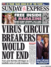 Daily Express Sunday front page for 18 October 2020