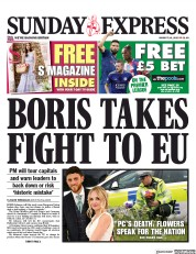 Daily Express Sunday (UK) Newspaper Front Page for 18 August 2019