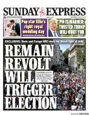 Daily Express Sunday (UK) Newspaper Front Page for 1 September 2019