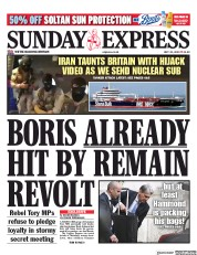 Daily Express Sunday (UK) Newspaper Front Page for 21 July 2019