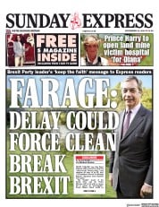 Daily Express Sunday (UK) Newspaper Front Page for 22 September 2019