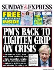 Daily Express Sunday (UK) Newspaper Front Page for 26 April 2020