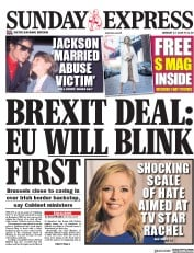Daily Express Sunday (UK) Newspaper Front Page for 27 January 2019