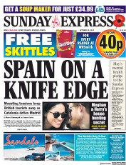Daily Express Sunday (UK) Newspaper Front Page for 29 October 2017