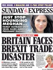 Daily Express Sunday (UK) Newspaper Front Page for 2 December 2018