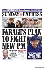Daily Express Sunday (UK) Newspaper Front Page for 30 June 2019