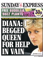 Daily Express Sunday (UK) Newspaper Front Page for 30 July 2017